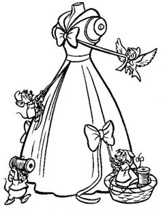 The Mice Help Cinderella To Make Her Gown