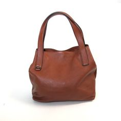NEW Coccinelle 'Mila' Medium Top Handle Tote Bag in Tan Leather | Cherry Edit