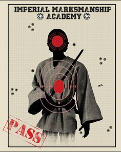 Mustn't hit the target to pass storm trooper training academy :)