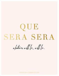 "It's Wednesday again which means Happy Hump Day! This year I have decided that my motto is going to be ""Que Sera Sera"". I can such a planner and over thinker sometimes, and I just need focus on not worrying about the little things and just let go of and think; you know what, whatever will be will be! ""Que…"