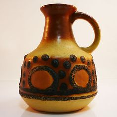 German Pottery Vase • VEB Haldensleben • org. Paperlabel