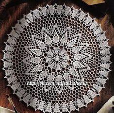 Discussion on LiveInternet - Russian Service Online Diaries Crochet Doily Rug, Crochet Tablecloth, Filet Crochet, Crochet Shawl, Doily Patterns, Crochet Patterns, Crochet Diagram, Tatting Lace, Kugel