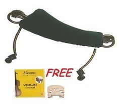 Merano 1/2 Size Violin Shoulder Rest + A Set of Strings + A Bridge by Merano. $7.99. Comfortable Pad  Metal Base  Rubber Feet Protection .