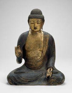 Shaka, the Historical Buddha - Japanese, late Heian period, 12th century