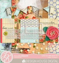 Love Is A Verb mini kit freebie from Juliana Kneipp