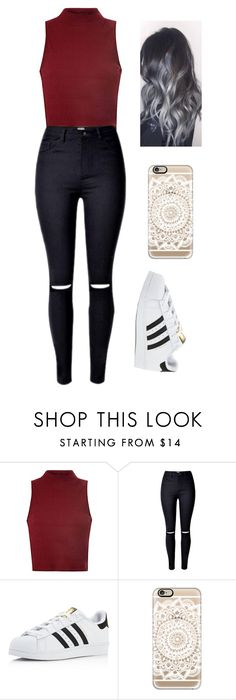 """Untitled #25"" by madiosn-wood ❤ liked on Polyvore featuring Glamorous, adidas and Casetify"