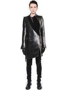 ANN DEMEULEMEESTER AW 2016 - METALLIC WOOL & LINEN BLEND COAT