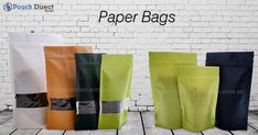 We offer versatile and innovative #Kraftpaperbags and #whitepaperbags, #green and #black which are available in several sizes and shapes like #standuppouches, #sidegussetbags, #threesidesealedbags,