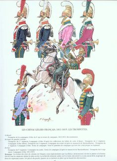 French Line Lancers - Trumpeters 1811-1815, by Patrice Courcelle.