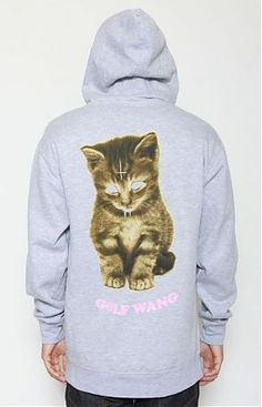 Golfwang Kitty Zip-Up Hoodie by Odd Future at MOOSE Limited.  Wow even the OF katz are doing the kat fashion....  I gotta get on board!