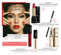 """Perfect Pout, Jessica"" by danijelapoly ❤ liked on Polyvore featuring beauty and Guerlain"