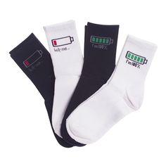 Euro 37-42 Black White 70% Cotton Fashion Cool Socks for Women Men Hip hop Novelty Socks Funny Socks Meia