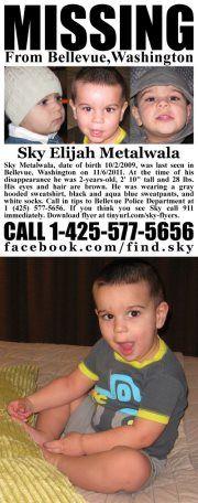 Sky Metalwala - Missing since November 6, 2011, Bellevue, Washington.