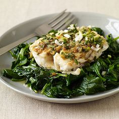 Soy-Glazed Fish with Stir-Fried Spinach -weight watchers
