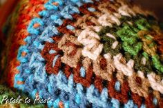 This afghan has great color and is an easy stitch.  I'll show mines when I'm done.