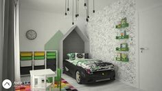 Kids-room design by Anita Ilie Casa Patrata Kids Room Design, Toddler Bed, Room Ideas, Interior Design, Projects, Furniture, Home Decor, Houses, Child Bed