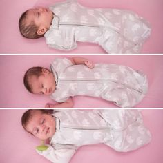 Our Hybrid 4-in-1 Woombie! Converts from swaddle to arms in/out or sleeves on/off sleepsack. Woombie.com #swaddle