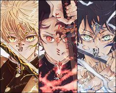 Read Kimetsu No Yaiba / Demon slayer full Manga chapters in English online! I Love Anime, Me Me Me Anime, Anime Guys, Anime Demon, Manga Anime, Anime Art, Demon Slayer, Slayer Anime, Fanarts Anime
