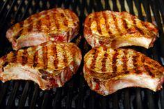 Roasted Pineapple and Habanero Pork Chops