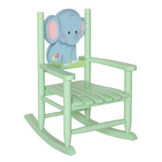Delicieux Kids Rocking Chair Jungle Elephant