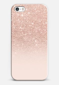 Modern faux rose gold glitter ombre blush pink iPhone SE case by Girly Trend | Casetify