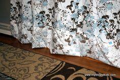 no-sew sheet curtain tutorial