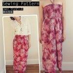 Free Maxi Dress / Skirt Pattern – 2WAY ワンピース無料型紙
