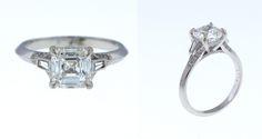 #customengagementring #achercutdiamond #diamondring #platinumengagementring #diamondring #vintageengagmentring #engagementring #aschercutengagementring