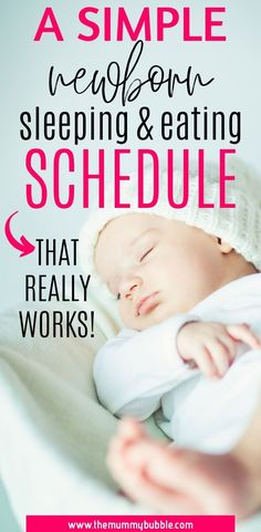 A simple but effective newborn baby sleeping and eating schedule! Tips for getting your newborn baby into an easy routine that works for mama and baby. Tips for helping your baby to sleep better and have full feeds Newborn Baby Tips, Newborn Schedule, Baby Sleep Schedule, Newborn Babies, Newborn Care, Sleep Train Newborn, Toddler Sleep, Baby Girl Names, Eating Schedule