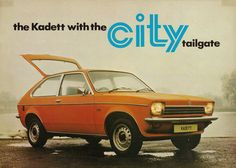 Opel Kadett City, apart from the front lights almost identical to the Vauxhall Chevette: 1976 Vintage Racing, Vintage Cars, Ad Car, Car Advertising, Small Cars, My Dream Car, Car Manufacturers, Cars And Motorcycles, Classic Cars