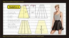 Easy Sewing Patterns, Clothing Patterns, Dress Patterns, Fashion Sewing, Diy Fashion, Sewing Clothes, Diy Clothes, Skater Skirt Pattern, Costura Fashion