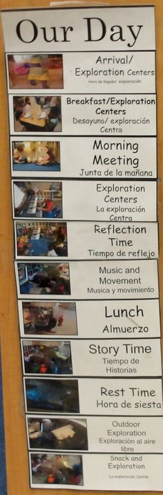 classroom environments: Creating Community Daily schedule