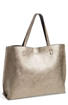 Fall staple: Metallic reversible tote.