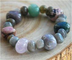 Armband aus bunten Edelsteinen  /Bracelet from colorful gemstone