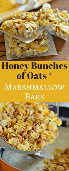 These Honey Bunches of Oats Marshmallow Bars are delicious and easy to make. They are perfect to eat while watching a movie at home or at the movies! #ad