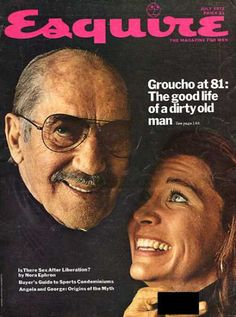 Groucho Marx on Esquire cover Groucho Marx, Vogue Covers, Esquire, Comedians, Life Is Good, Hollywood, Actors, Gallery, Roof Rack