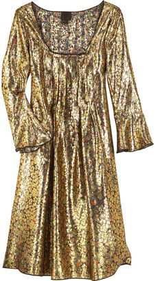 ShopStyle: Anna Sui Metallic brocade dress