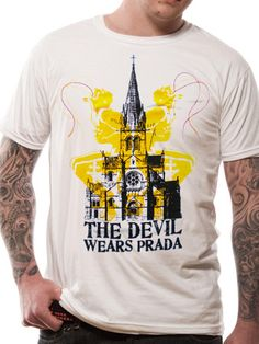 Officially Licensed The Devil Wears Prada design printed on a black 100% cotton short sleeved T-shirt