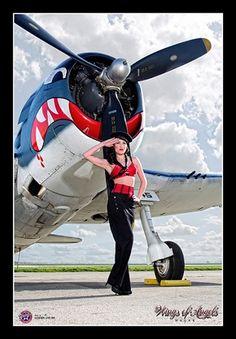 Pin-up Girl F6F Hellcat Poster
