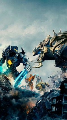 """Wallpaper for """"Pacific Rim: Uprising"""" Pacific Rim Movie, Pacific Rim Kaiju, Pacific Rim Jaeger, King Kong, Gipsy Danger, Giant Monster Movies, Charlie Day, Beast, Naruto"""