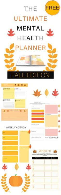 Mental Health Planner: Fall Edition - Radical Transformation Project