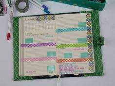 How to Organize Your Planner with Washi Tape 14
