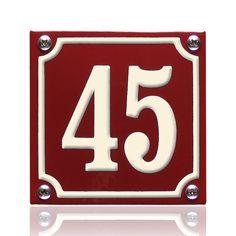 Emaille donkerrood. Nummer naar keuze! Astros Logo, Flip Clock, Team Logo, Retro, Gardening, Home, Enamel, Lawn And Garden, Ad Home