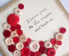 Valentines Card  I Love You to the Moon and Back by LottieandLois