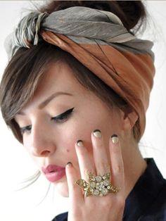 Look scarves turban head hairstyles step by step