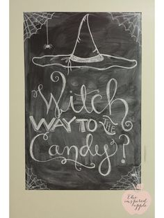 Halloween chalkboard sign