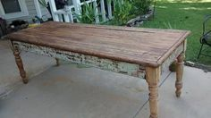 Beautiful old farm table recently refinished on top and legs. Fine craftsmanship. Solid piece. These tables go for thou$nd$! https://www.1stdibs.com/furniture/tables/farm-tables/ $650 or $700...