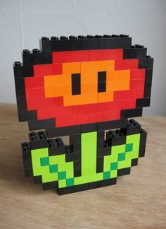 LEGO custom kit Flower by Guythefly on Etsy, $19.99