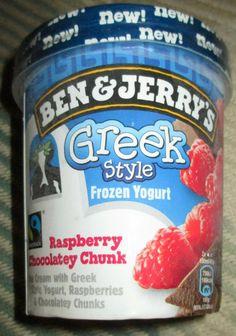 Foodstuff Finds: Ben & Jerry's Greek Style Frozen Yoghurt - Raspberry & Chocolaty Chunk (Sainsburys) [By @Cindy Poole]