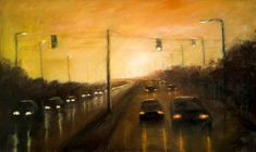 On the way home 50 x 84 cm // 19.6 x 33 inches Oil on fiberboard Available